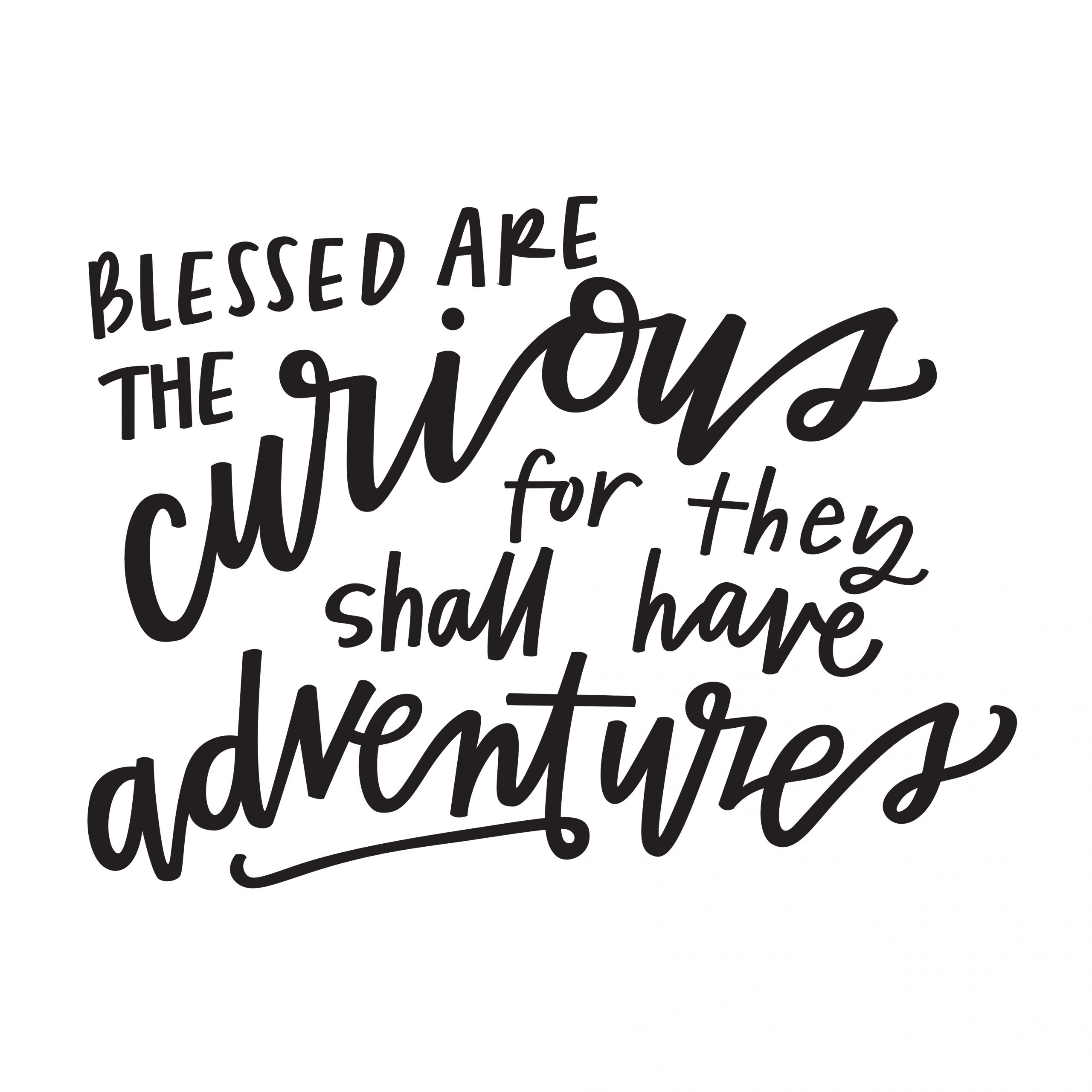 Blessed are the Curious…